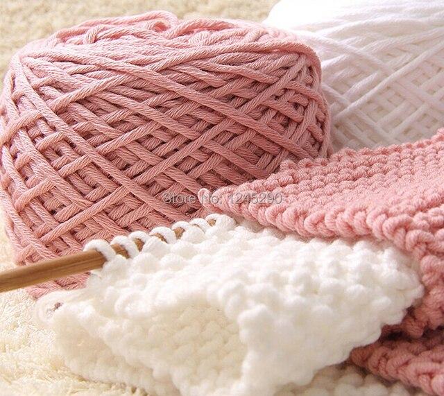 +-200 г молоко хлопок толстой пряжи для вязания шарф для ручного вязания, пряжа для вязания зима теплая Быстрая бесплатная доставка