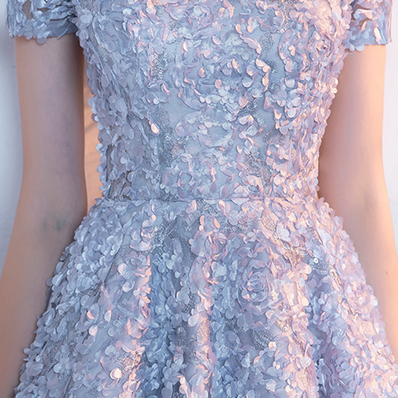 Flowers Romantic A Line Knee-length Bridesmaid Dress