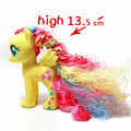 Pony Toy Horse in Action Figure 13.5CM  Color long hair Vinyl Doll Yellow Toy Model PVC Doll For over 6 year Girls Gift Kids Toy