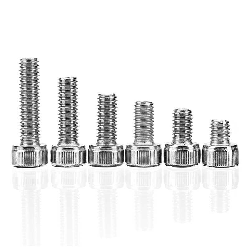 Suleve  60Pcs M5 Stainless Steel 6-20mm Hex Socket Cap Head Screw Allen Bolt Assortment Kit