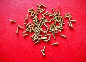 Image 2 - 2.5*12MM 400 stuks Schroeven Zilver Brons Messing Op Keuze Mini Nail Brads Doos Scharnier Verpakking Accessoires