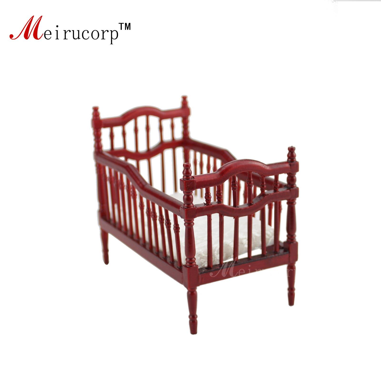 Кукольный домик в масштабе 1:12 Миниатюрная мебель Отлично Детская кровать ручной работы