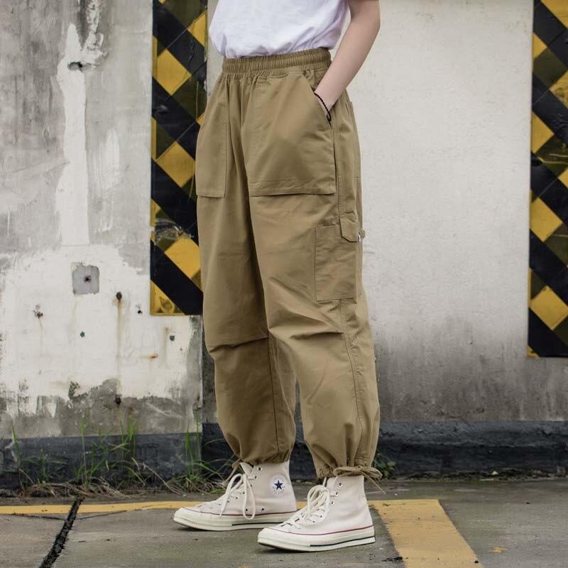 Mode Militaire Armée Cargo Pantalon Hommes et Femmes Surdimensionné Lâche Baggy Harem Pantalon Large Jambe Hip Hop Pantalon Streetwear Pantalon