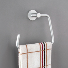 Space aluminum towel ring shelf coat hook space aluminum pendant bathroom towel hanging цены