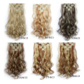 7 Clips blending hair piece curls sheet costume wig curls wave sheet  long curly wave queen hair product hot sale in Brazilian