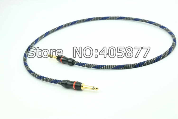 1M 6.35mm to 6.35mm Plug Stereo Audio video Cable