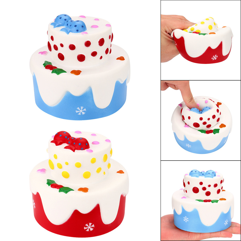 Squishy Junbo Birthday Cake Scented Slow Rising squeeze oyuncak Squishies Antistress Collection Squeeze Stress Reliever Toy