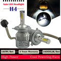 TAITIAN Pair LED 160W 16000LM H4 9003 HB2 Headlight Light Kit H/L Beam Bulbs 6000K