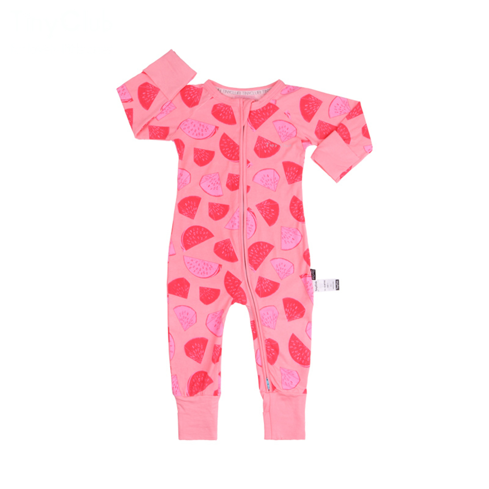 5a997b8a6ba7 Infant Jumpsuit Long Sleeves Watermelon Romper Baby Boy Girl Clothes Tiny  Cottons New Born Toddler Onesie Overall Outfit Pajamas-in Rompers from  Mother ...