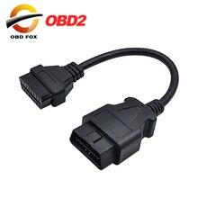 16 Pin męski na 16 Pin kobieta OBD 2 OBD II rozszerzenie fabryka OBD2 Adapter dla Benz 38 złącze pinowe dla bmw 20 pin Fre wysyłka