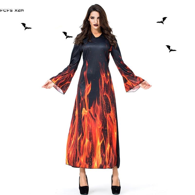 Gothic Woman Halloween Demon Costumes Female Sorceress