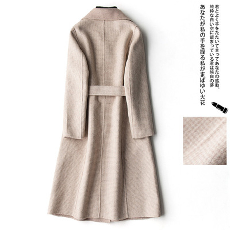 Qualité Gamme Beige Long Style Nouvelle Haut Double Mode Haute Section Manteau Chinois Veste face purple Casual Cachemire camel Dames De 2019 UAA1qtw7