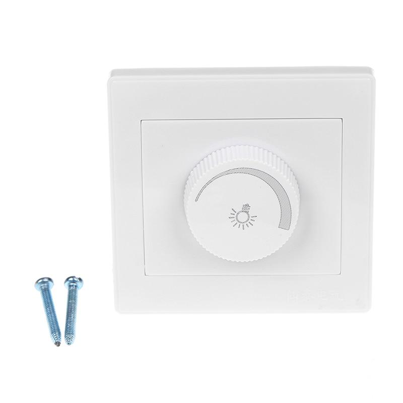 1 Set Elegante Witte 220 V Licht Dimmer Verstelbare Helderheid Controller Filament Lamp Helderheid Controller Dimmer Hoge Kwaliteit En Goedkoop