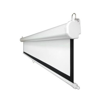 """150"""" 16:9 Manual Projector Projection Screen Pull Down Screen with slow return control/Fiber glass white"""