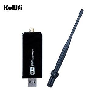 Image 3 - 1200 Мбит/с USB3.0 Wifi адаптер беспроводная сетевая карта 2,4G/5,8G Двухдиапазонная 5dBi антенна 802.11a/b/g/ac 2T2R Настольный Wifi приемник