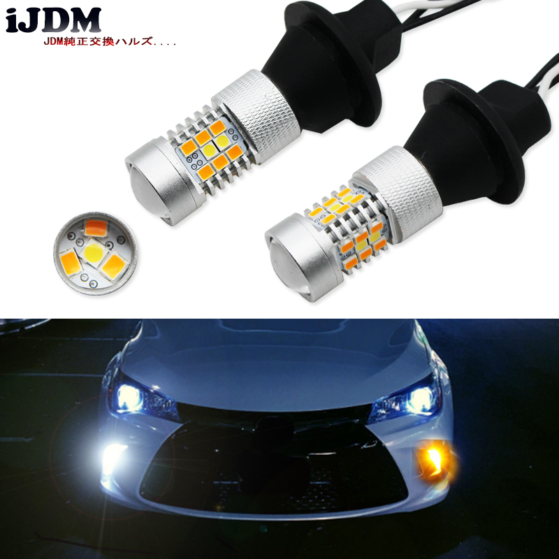 IJDM CANBUS 7440 LED Daytime Running Lights/Turn Signal Lights Conversion Kit For 2015-up Toyota Camry LE SE Or Special Edition
