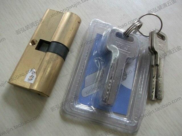 Cylindre de serrure de porte en laiton de haute sécurité 105mm (52.5 + 52.5) avec clés en laiton