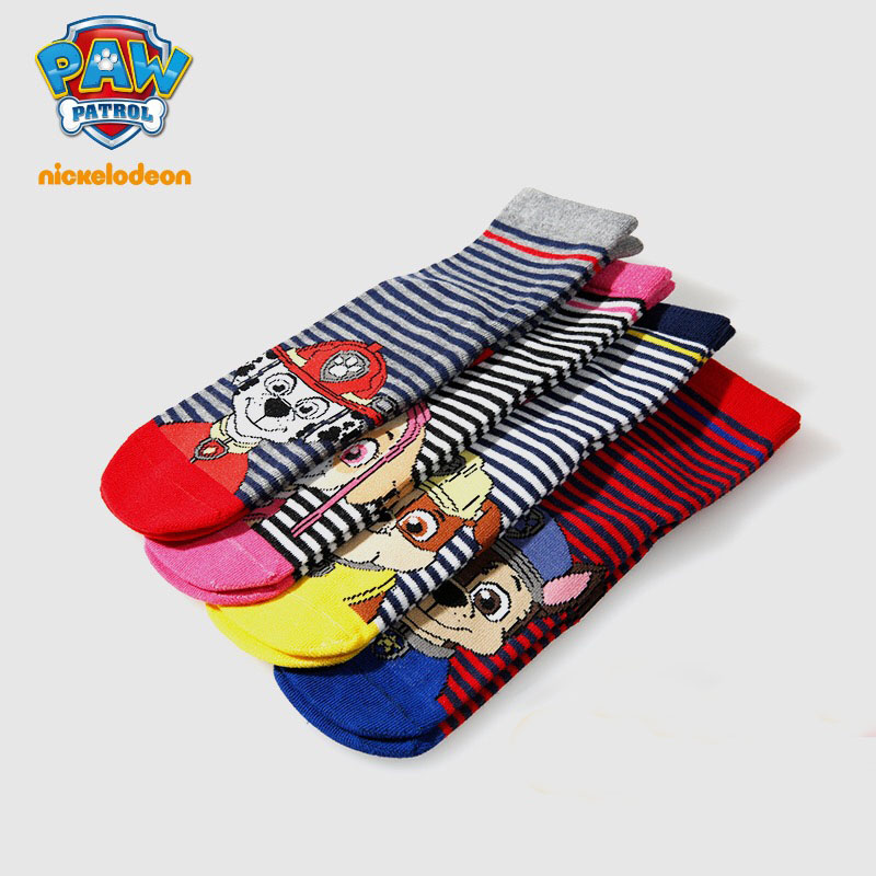 Promotion! 4pcs =2 Pairs Genuine Paw Patrol Baby Kids Plush Sock Spring Autumn Cotton Children's  Toy Sock For 3-9 Years Gift