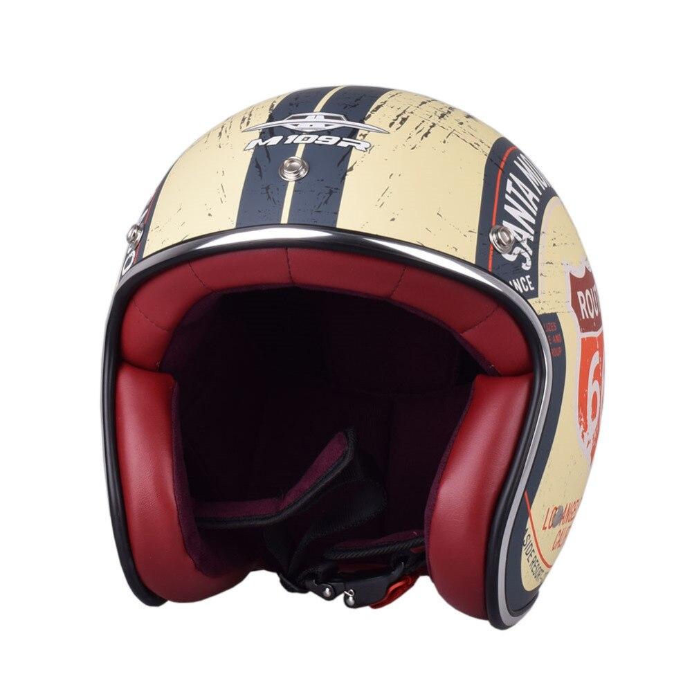 M109R мотоциклетный шлем винтажный с открытым лицом Половина Casco Ретро мото скутер Chopper Motocyklowy шлемы Kask
