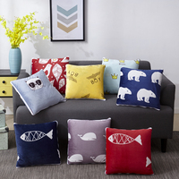 Hold Pillow Cushions Blankets Cartoons Home Office Car Wool Fabrics