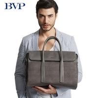 Высокое качество bvp бренд Пояса из натуральной кожи человек Бизнес Портфели мульти емкость сумка для ноутбука Для мужчин для отдыха серые к