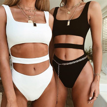 4 color high cut leg Sport One Piece Push Up Monokini