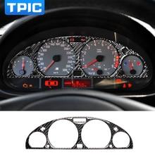 TPIC الداخلية ألياف الكربون لوحة سيارة لوحة أداة شاشة واقية الكسوة ملصق تصفيف السيارة لسيارات BMW E46 M3 1998 2005