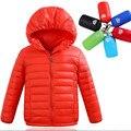 2016 Meninos Jaqueta de Inverno Grosso Branco Duck Down Jaquetas Menina para baixo Crianças Jaqueta de Penas de Pato Crianças dwon casaco para as crianças casaco