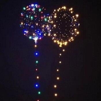 10x18 дюймов 5 м с подсветкой круглый шар пузырь света украшения гелием воздушный шар строки Новый год детские игрушки bobo Шарики