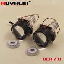 ROYALIN версии 7,0 мини Биксеноновая H1 проектор фары объектив для H4 H7 авто свет модернизации стайлинга автомобилей Применение H1 лампа