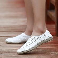 Merkmak marca verano causal Zapatos hombres Mocasines Cuero auténtico mocasines hombres conducción Zapatos alta calidad para hombre tamaño 39- 46