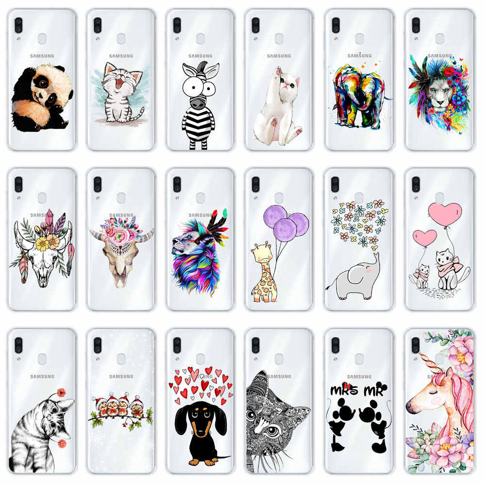 For Samsung Galaxy A50 Case 2019 NEW Fashion Soft TPU silicone Back Cover For Samsung A10 A30 30 10 A 50 A505 Phone Shells Cases