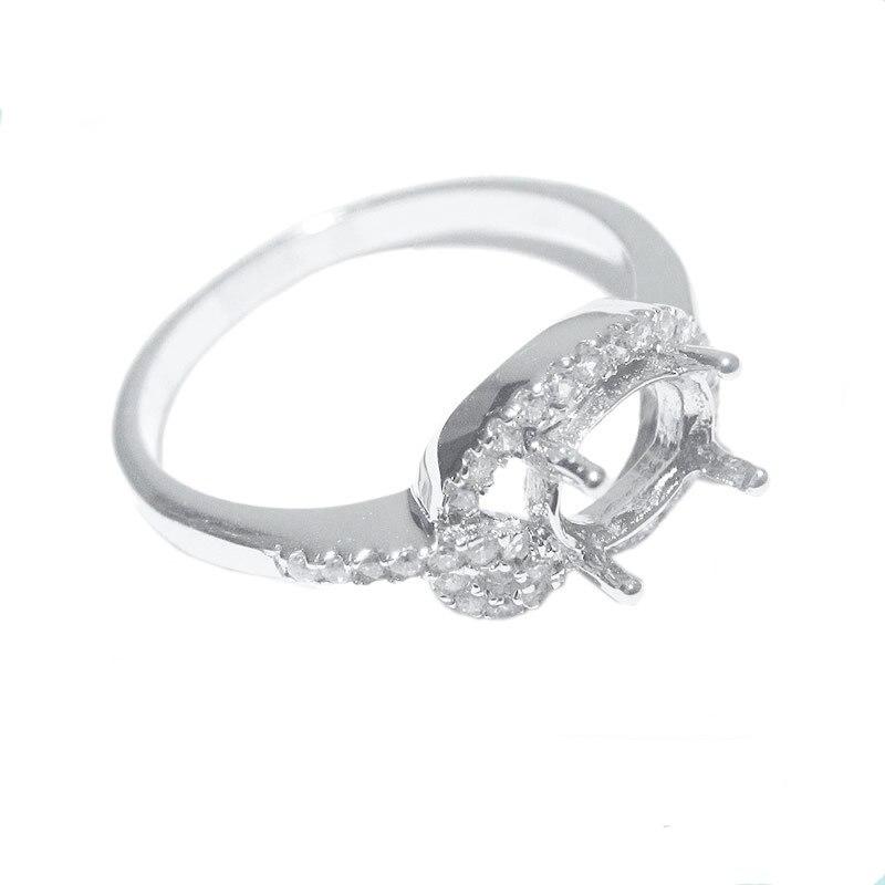 Beadsnice ID27721 diy 925 prata esterlina jóias anéis de ajuste para as mulheres se encaixam 7x5mm oval