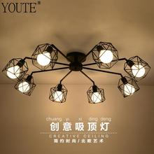 Modern Home Decoration 3/5/8 Head  Iron Cage Ceiling Light Brief Personality Ceiling Lamp Living Room Lamps  Free Shipping