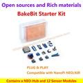 Bakebit starter kit, contiene un neo-hub y 12 módulos de sensor, plug and play, compatible con nanopi neo/neo nanopi aire
