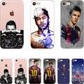 Барселона 2017 Месси Neymar Роналду Прозрачный Ясно мягкий силикон ТПУ case обложка Для Apple iphone 7 7 плюс 5S SE 6 6 S 6 плюс