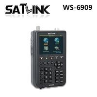 Original Satlink WS 6909 3 5 DVB S DVB T Combo Satellite Meter Satellite Finder 6909