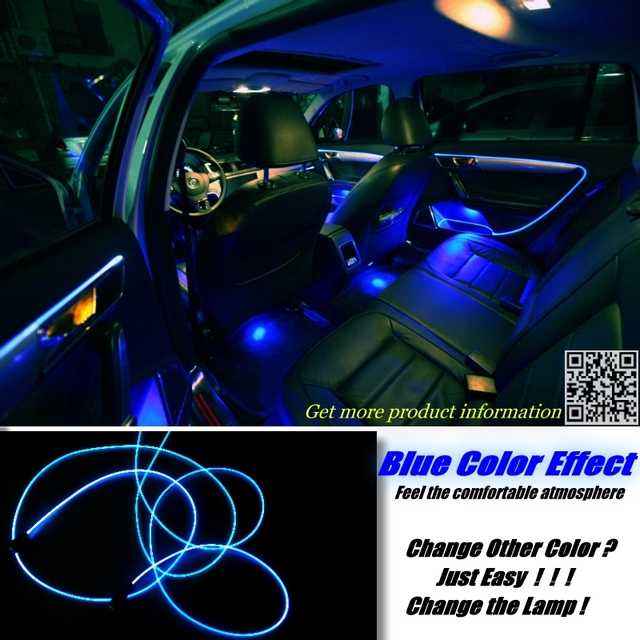 interior Ambient Light Tuning Atmosphere Fiber Optic Band Lights For Chrysler 200 For Lancia Flavia Door Panel illumination 3