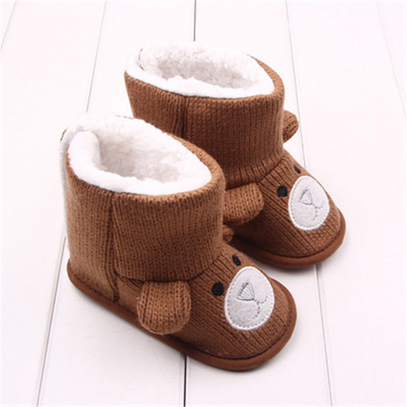 Baby Winter Boots Infant Toddler Newborn Cute Cartoon Bear Shoes Girls Boys First  Walkers Super Keep Warm Snowfield Booties Boot-in First Walkers from ... 0287cff44ed8