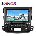 KANOR Quad Core Android 5.1.1 Автомобильный GPS navi радио Головного Устройства стерео dvd-плеер для Mitsubishi Outlander 8 дюймов 1024*600 Емкостный
