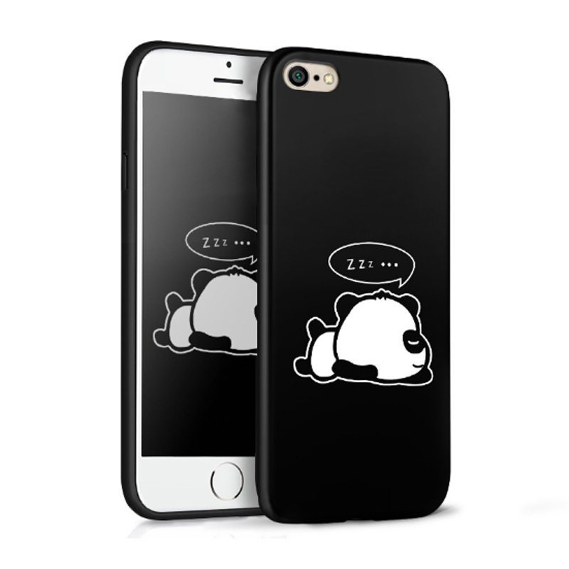 Cartoon Anime Case For Apple iphone 8 8 plus Soft Silicone Painted relief Case cover For iphone 8 8 plus black cute back shell