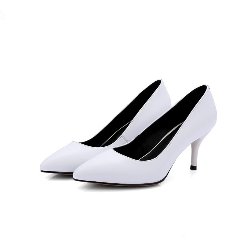 2019 spring and autumn new single shoes pointed stiletto high heel fashion womens shoes white 04282019 spring and autumn new single shoes pointed stiletto high heel fashion womens shoes white 0428