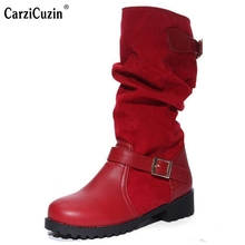 hot deal buy size 34-43 women boots female spring and autumn women's martin boots flat vintage zip chains square heel motorcycle boots