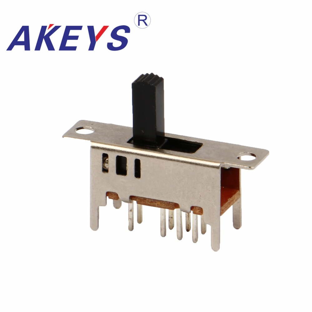 Lighting Accessories Switches Adroit 100pcs Ss-23d04 2p3t Double Pole Three Throw 3 Position Slide Switch 8 Solder Lug Pin Verticle Type With 4 Fixed Pin Products Are Sold Without Limitations