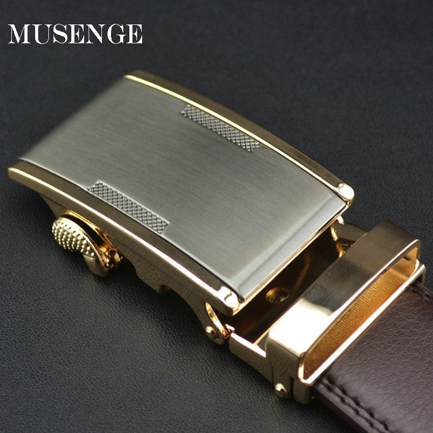 Cinturón hombres cinturones de lujo sólido formal cuero genuino oro metal  hebilla automática cinto masculino marca designe cinturones hombre 6044d95eeb0b