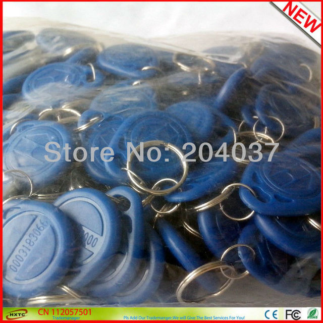 Hot Sale 100PCS/Lot Proximity  LF 125Khz  EM ID RFID  Cards / KeyTags / Keyfobs  with EM4100 TK4100 Chip For Access Control