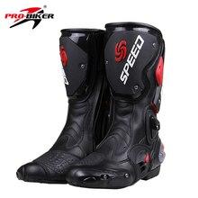 PRO-BIKER SPEED BIKERS мотоциклетные ботинки для мотогонок, мотокросса, внедорожника, мотоциклетная обувь, черный/белый/красный, размер 40/41/42/43/44/45