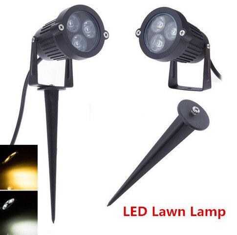 3W Outdoor LED Garden Spike Lights AC/DC12V/220v/110v Waterproof  White/warm White  LED Lawn Light Lamp For Garden Lighting