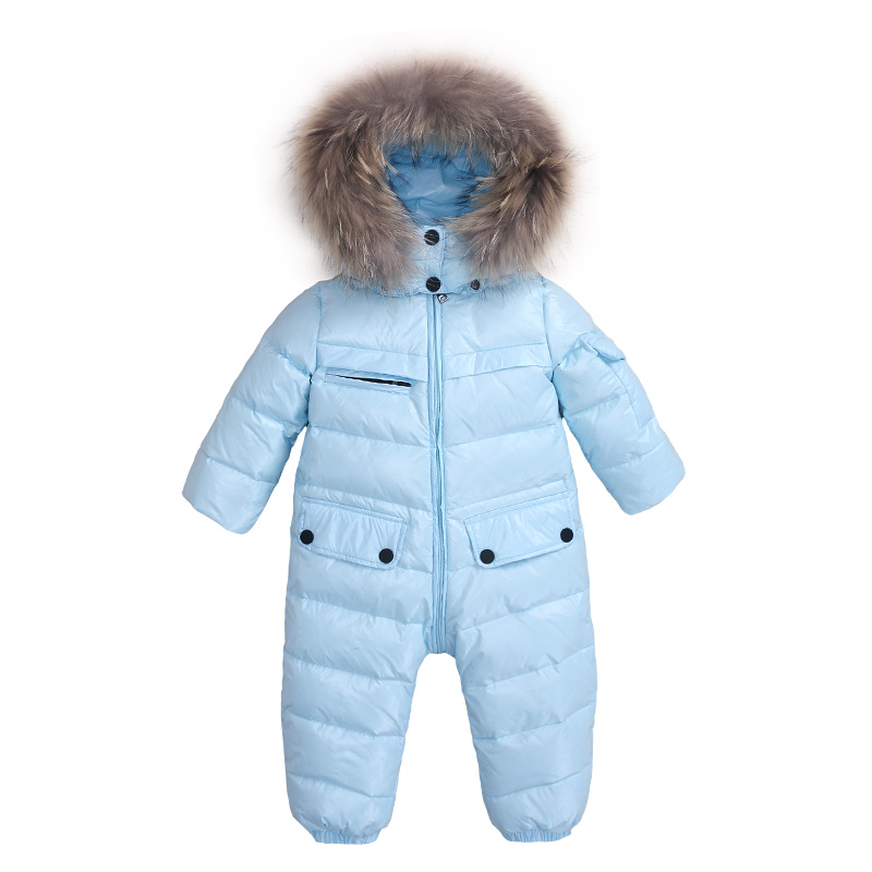 Mioigee 2017 White Duck Down Boy Snowsuit Windproof romper Winter Romper for Girls warm hooded Baby Girls Winter Outdoor Rompers mioigee 2017 new down baby rompers winter outdoor boy costume girls warm infant snowsuit kid jumpsuit children romper clothing