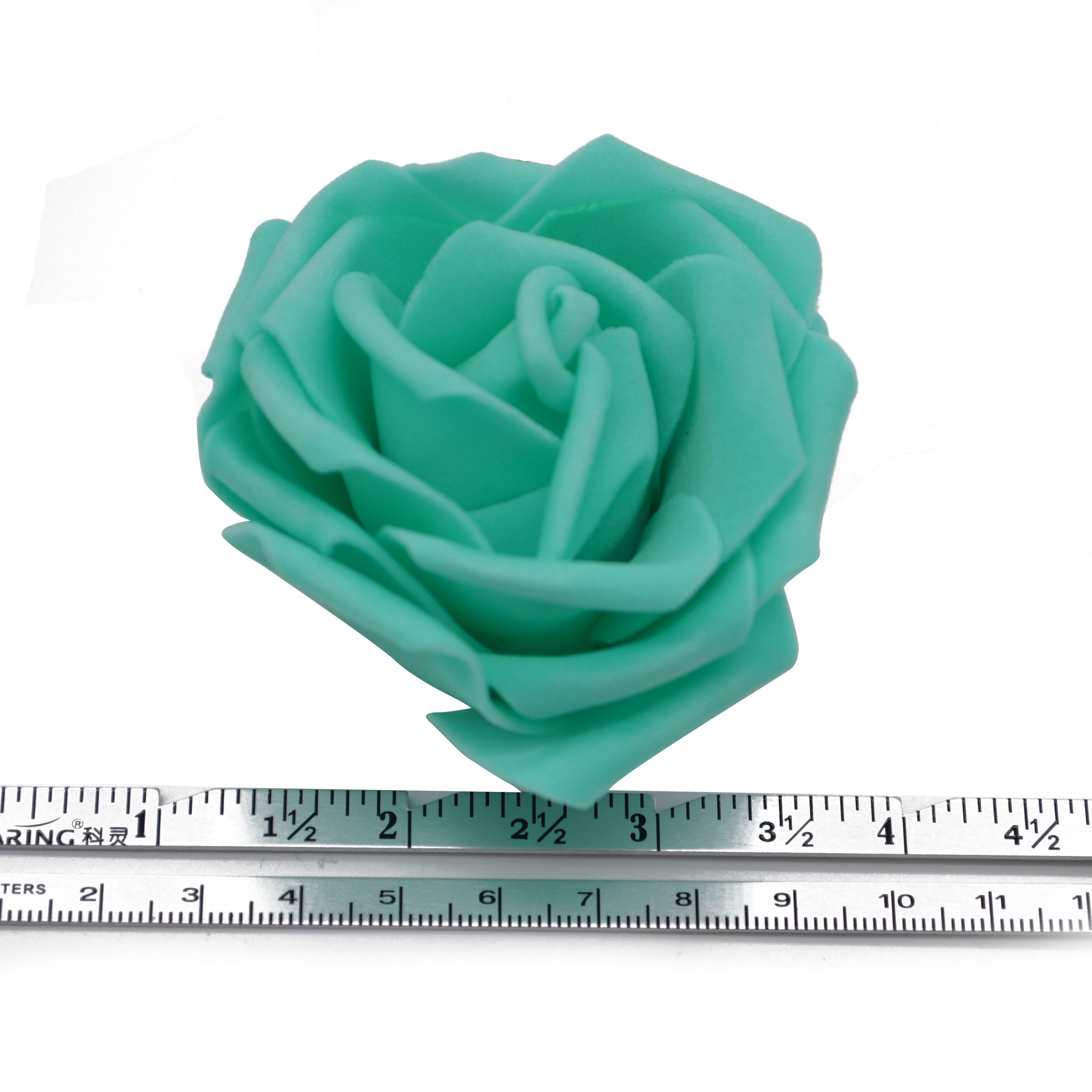 30Pcs/lot 8cm PE Foam Rose Artificial Flower Heads For Decorative Wreaths Wedding Event Party Decoration Home Garden Supplies